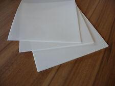 PTFE Teflon Platte, Zuschnitt 103 x 72 x 50 mm weiß Reststück