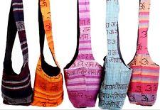 """5 Pcs Wholesale Indian Messenger Yoga Cotton Vintage """"OM"""" Hippie Cross Body Bag"""