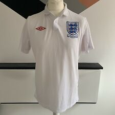 UMBRO ENGLAND Shirt Size Large / 40 WHITE HOME Top | SOUTH AFRICA 2010 World Cup