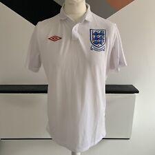 Umbro Inglaterra Camisa Tamaño Grande/40 Blanco Casa Superior | South Africa 2010 Copa del Mundo