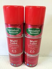 MULTI-LUBE WITH   P.T.F.E  500ML AEROSOL X 2