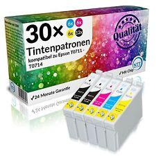 30 x Druckerpatronen für Epson Stylus SX400 SX405 SX405 WiFi SX415 SX510W SX515W