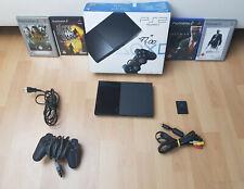 Sony Playstation 2 PS 2 Slim Konsole Spiele Controller und Speicherkarte - OVP