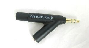 Dayton Audio iMM-6 kalibriertes Messmikrofon für Tablet, Smartphone, Android