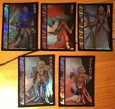 Dot Hack .Hack//Enemy TCG Lot of 5 Level Up Foil Cards (1T6, 7, 8, 9, 10) M/NM