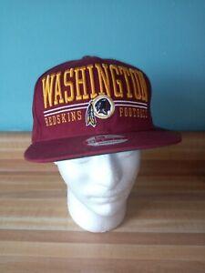 Washington Redskins New Era 9Fifty NFL Snapback Hat/Cap pre-owned Maroon & Gold!