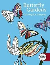 Butterfly Gardens: Coloring for Everyone (English) Paperback Book Free Shipping!