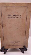 FORD MODEL A RESTORATION MANUAL 1928-1930 MODELS  COPYRIGHT 1955