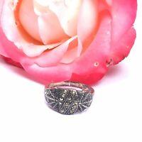 "Antique Jewellery Art Deco Marcasite Ring UK  ""O""spider Web Design"