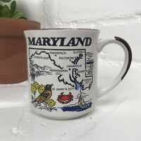 Vintage Cozy Collectible Maryland State Facts Coffee Tea Mug Cup Free Shipping