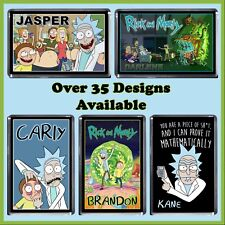 Personalised Rick and Morty Fridge Magnet - Riggity Wrecked, Wubba Lubba - Gift
