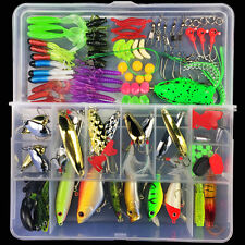 Lot 106pcs full tool Fishing Lures Crankbaits Hooks Minnow Baits Tackle box