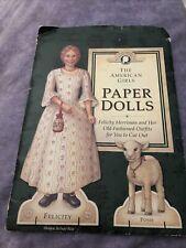American Girl Felicity Paper Dolls