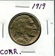1919 United States Buffalo Nickel 5c Coin EI293