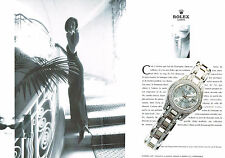 PUBLICITE ADVERTISING 094  1998  ROLEX  montre LADY DATEJUST CHRONO ( 2 p