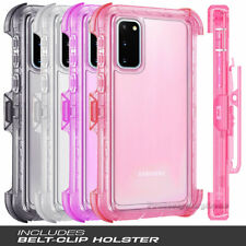 Samsung Galaxy S20,S20 Plus,S20 Ultra Clear Case Belt Clip Holder Stand Cover