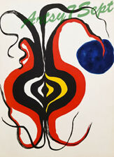 Alexander Calder Onion & 2 Red Suns 1965 Color Lithograph! FREE FRAMING/SHIPPING