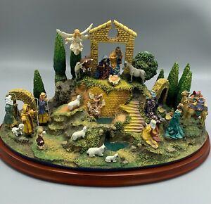THE NATIVITY DANBURY MINT DIORAMA CHRISTMAS SCENE FIGURINE LARGE DISPLAY SET
