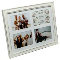 """Shabby Chic Rustic Nautical White Wooden /""""By the Sea/"""" Photo Frame Block 24x24cm"""