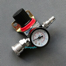 Air Pressure Regulator Relief w/ Gauge Hose Quick Release Compressor Fitting 1/4