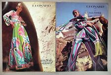 Leonard Paris 4-Page PRINT AD - 1972 ~ Bergdorf, Neiman-Marcus, Korshak, Giorgio