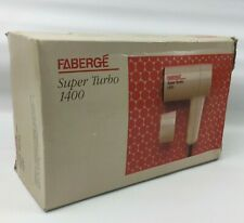 Vintage Faberge Super Turbo 1400 Hair Dryer, 1400W, Boxed with Manual, Retro