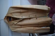 Armani Jeans, Lederjacke, camel used look, Gr.50