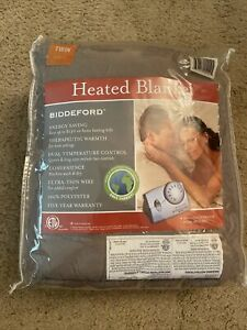 (New) Biddeford Therapeutic Warmth Electric Heated Blanket - Twin Gray