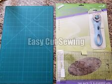"Sewing Rotary Cutter Cutting Mat Set A3 11""x17"" Quilting Ruler Fabric Crafts Kit"