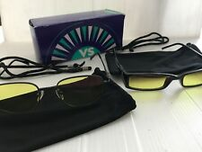 2 Pair VS Eyewear Night Driving Glasses Yellow Lens Safety Computer Protective