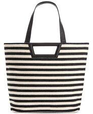 BCBGeneration Women's Black Stripe Tote, Beach Bag NEW