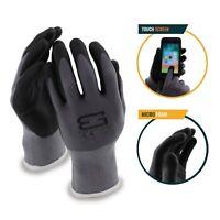 Better Grip Flex BGFLEXMF MicroFoam Work Gloves Work For Smart Phone (Gray)