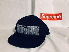 Genuine Supreme Zig Zag 6-Panel Cap Hat Black OSFA SS18H30 Brand New Logo
