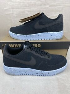 Nike Air Force 1 Crater Flyknit 'Black Chambray Blue' Mens Sz 10.5 DC4831 001