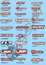 Fabricante Calcomanías Pegatinas Elige tu Logos & colores-Xray Mugen pr Racing