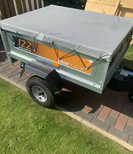 Erde 122 Trailer With High Side Extension And Covers
