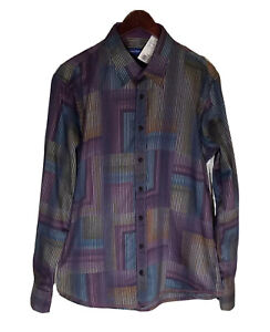 NWT Georg Roth LA Multicolored Flip Cuff Long Sleeve Button Up Shirt L MSRP $238