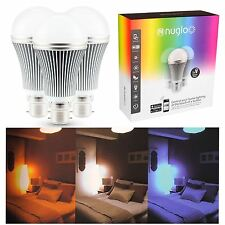 Bombilla LED que cambia de color de múltiples nuglo 3 paquete de estado de ánimo Luz controlada por aplicación Temporizador Wifi