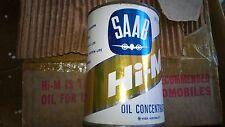 NOS Original 1960' s Saab 96 Hi-M Airplane Oil Steel Can 18 oz CASE new unopen