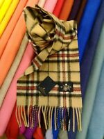 100% Pure Cashmere Scarf | The House of Balmoral | Camel Thompson | Tartan
