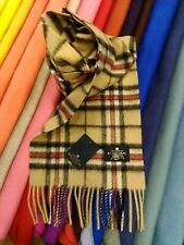 100% Pure Cashmere Scarf   The House of Balmoral   Camel Thompson   Tartan