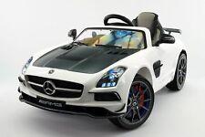 Mercedes SLS AMG Final Edition 12V Kids Ride-On Car with Parental Remote | White