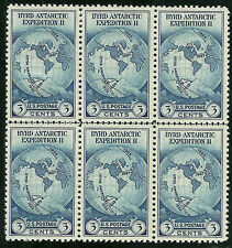 #753 Horizontal Line Block Of 6 Of 1935 Byrd Issue Mint-Nh/No Gum As Issued