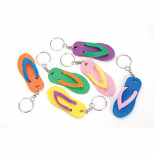 12 FLIP FLOP KEYCHAINS - LUAU PARTY FAVOR NEW!!! #SR1 Free Shipping
