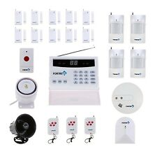 Home Alarm System Fortress Wireless Security Landline Smoke Detector Sensor FOB