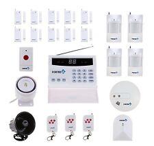 Home Alarm System Fortress Wireless Security Landline Smoke Detector Sensor FOB