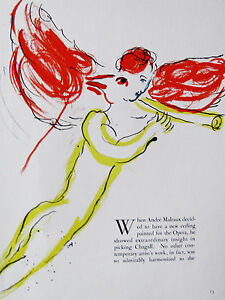 CHAGALL - GABRIEL - LITHOGRAPH -  1964 - FREE SHIPPING IN THE US !!!