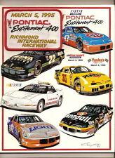1995 Pontiac 400 Program Terry Labonte win