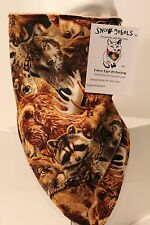 forest animals lined bandana mask fierce face protection  scarf