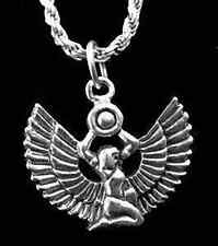 LOOK Isis Goddess Egypt Sterling Silver 925 Egyptian Charm P